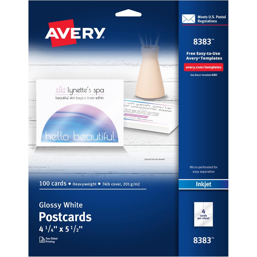 AVE5889 Avery Postcards