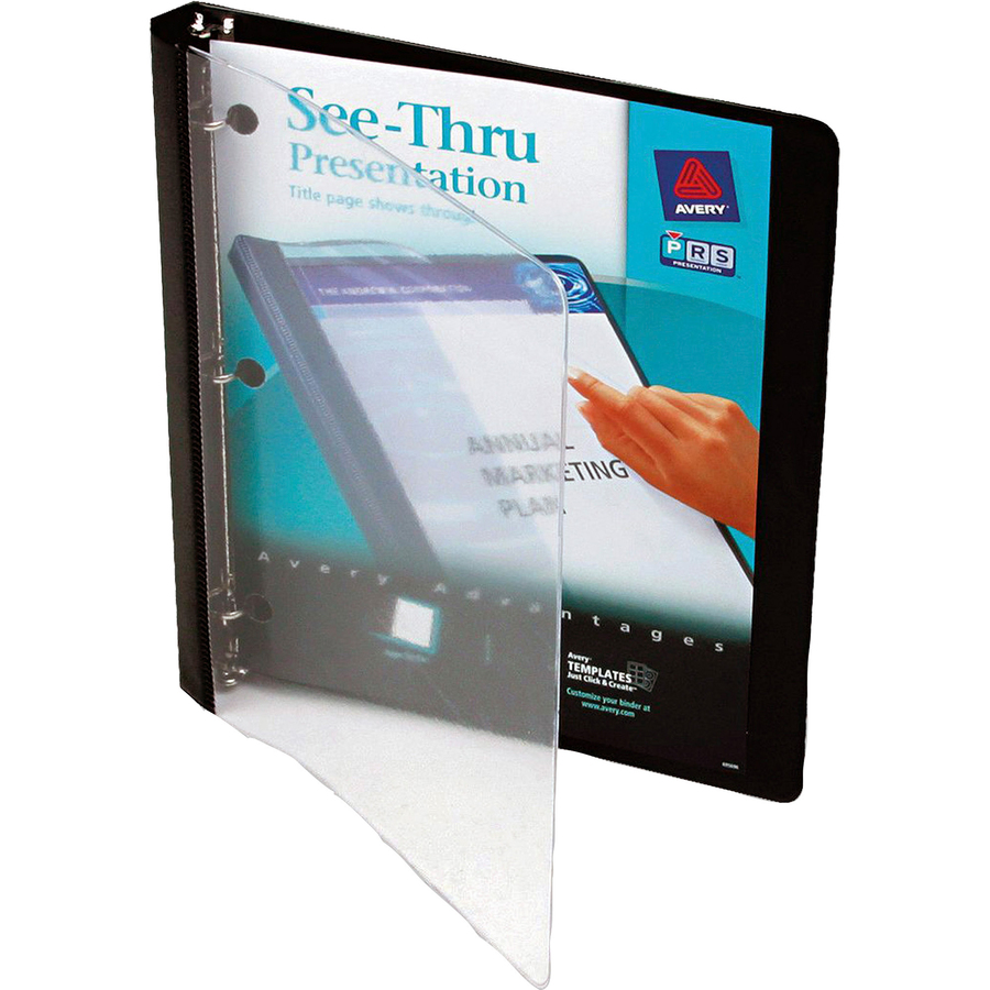 avery 10802 avery see thru presentation view binder ave10802 ave