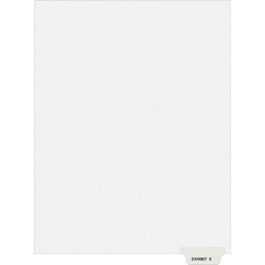 "Printed/""b/"" s 25 Tab 8.50/"" //set Avery Side-tab Legal Exhibit Index Dividers"