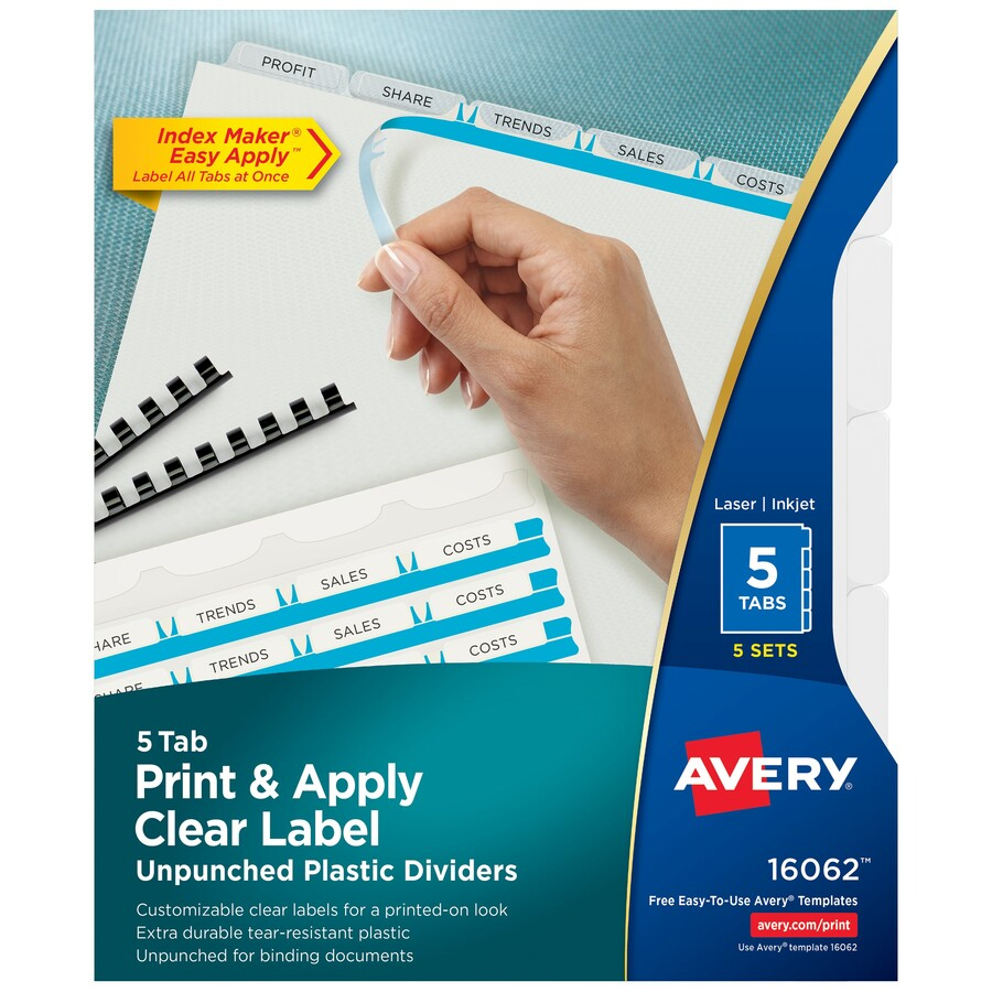 Discount Ave16062 Avery 16062 Avery Index Maker Print Apply