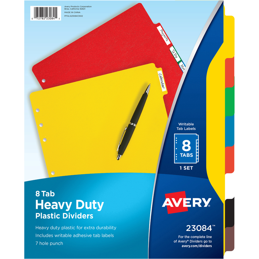 avery heavy duty plastic dividers with white tab labels yuletide