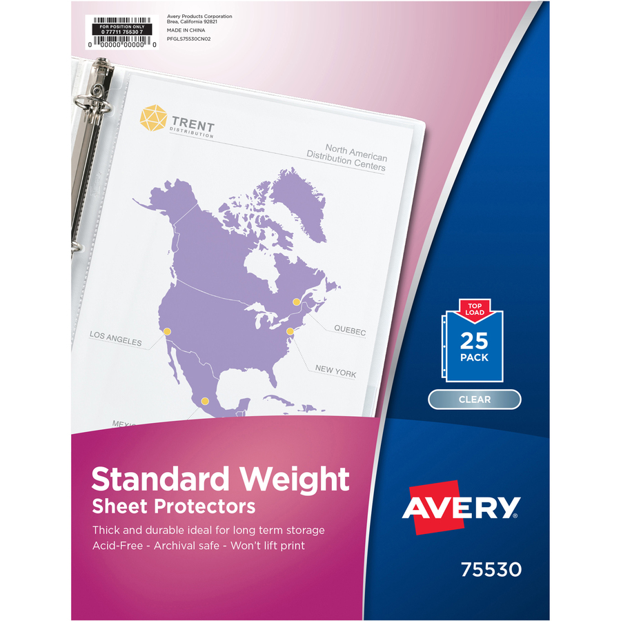 """Avery Slide And View Expanding File Letter 8.50/"""" X 11/"""" 200 Sheet Capacity"""