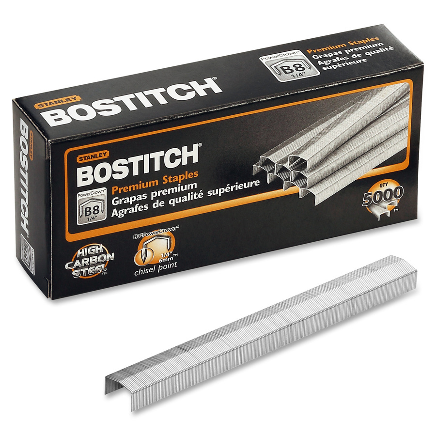 """- Ships Today 10,000 Staples 1//4/"""" Chisel Point, Bostitch Premium B8 Staples"""