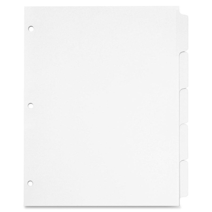 Cardinal Write N Erase Mylar Tab Dividers 5 X Divider S