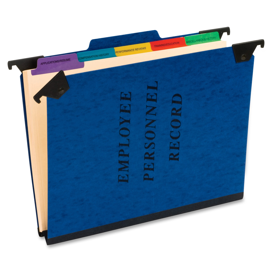 "5 Dividers Blue 8.5/""/"" x 11/""/"" 1//3 Tab Cut Pendaflex Employee//Personnel Folder"