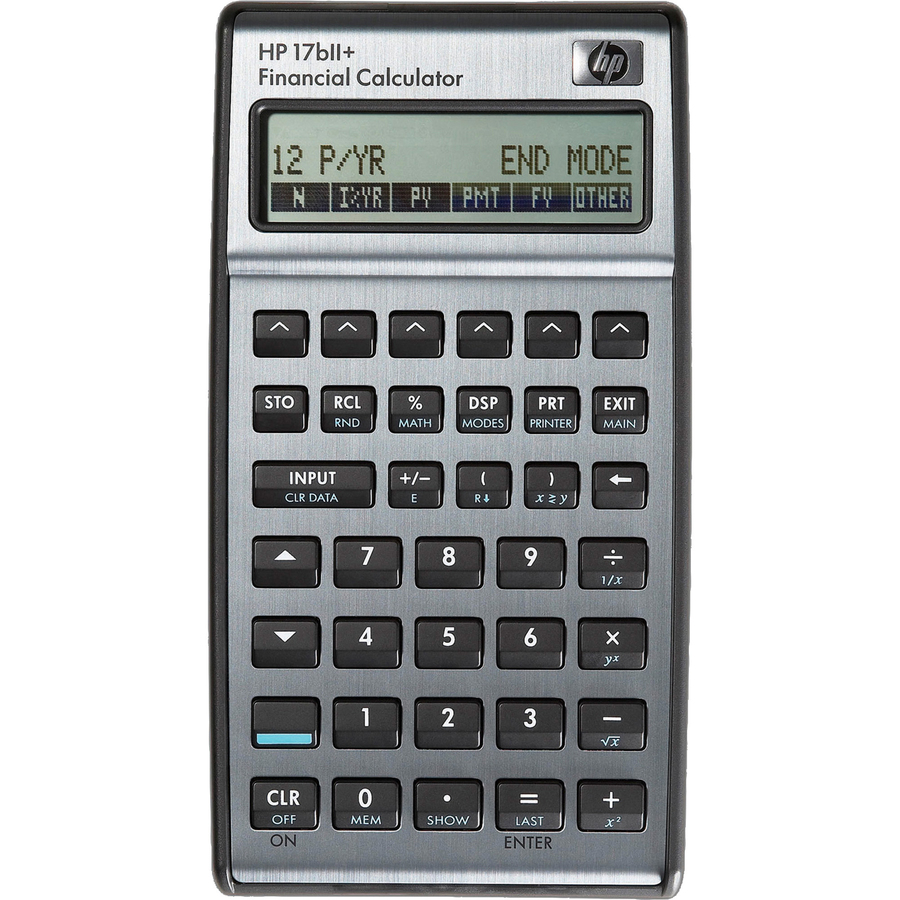 Hp 17biiplus Business Financial Calculator 250 Functions Plastic Key 28 Kb 2 Line S 22 Digits Lcd Battery Ed Cr2032 3 4 X