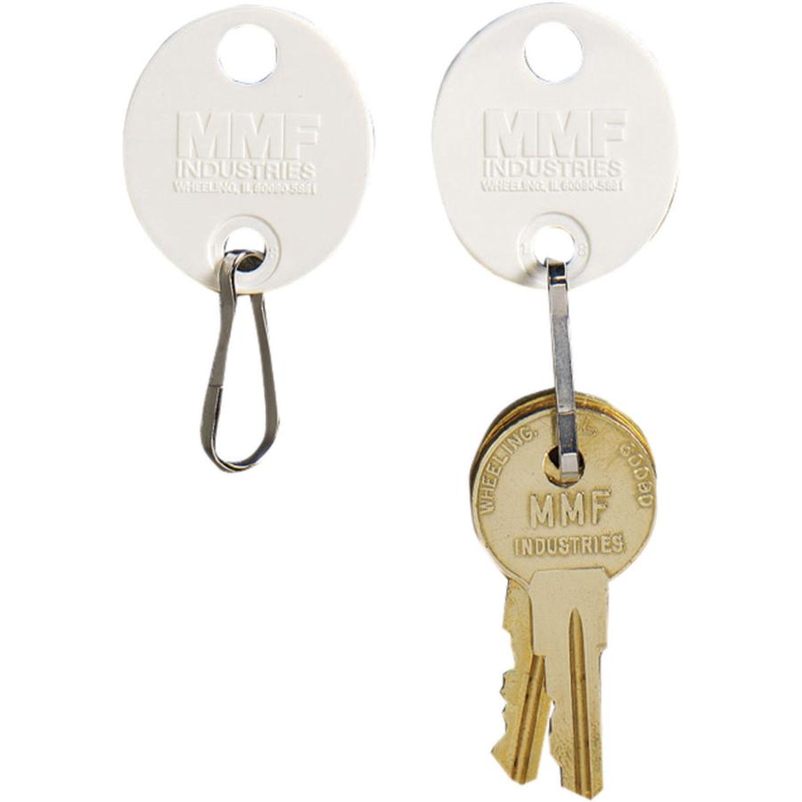 White Key Tag >> Mmf Oval Plastic Key Tags Plastic 20 Pack White