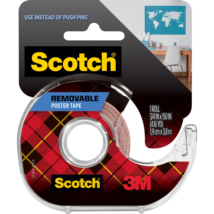 Scotch Removable Poster Tape 0 75 Quot Width X 12 50 Ft