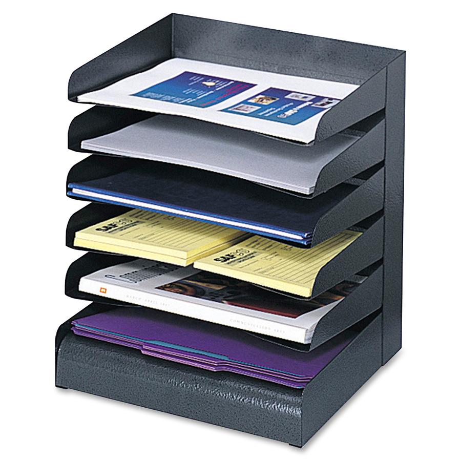 Safco 3128bl Safco 6 Tiers Letter Size Desk Tray Sorter Saf3128bl Saf 3128bl Office Supply Hut