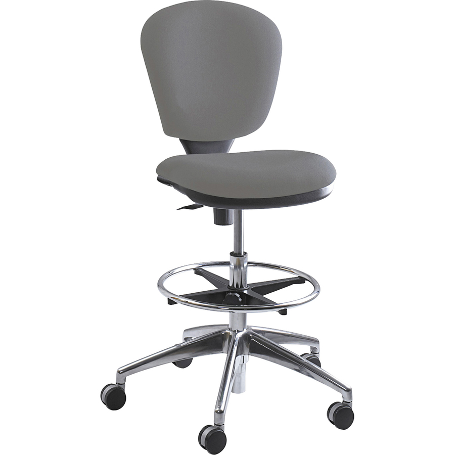Strange Safco Products Safco Metro Extended Height Chair Acrylic Gray Seat 5 Star Base 18 25 Seat Width X 17 Seat Depth 26 Width X 26 Depth X 49 Inzonedesignstudio Interior Chair Design Inzonedesignstudiocom