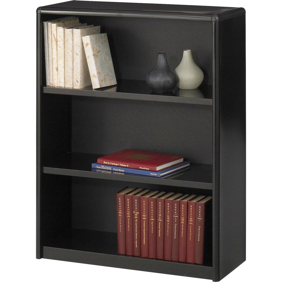 Safco Valuemate Bookcase 31 8 X 13 5 X 41 3 X Shelf Ves Black Steel Fiberboard Plastic Assembly Required