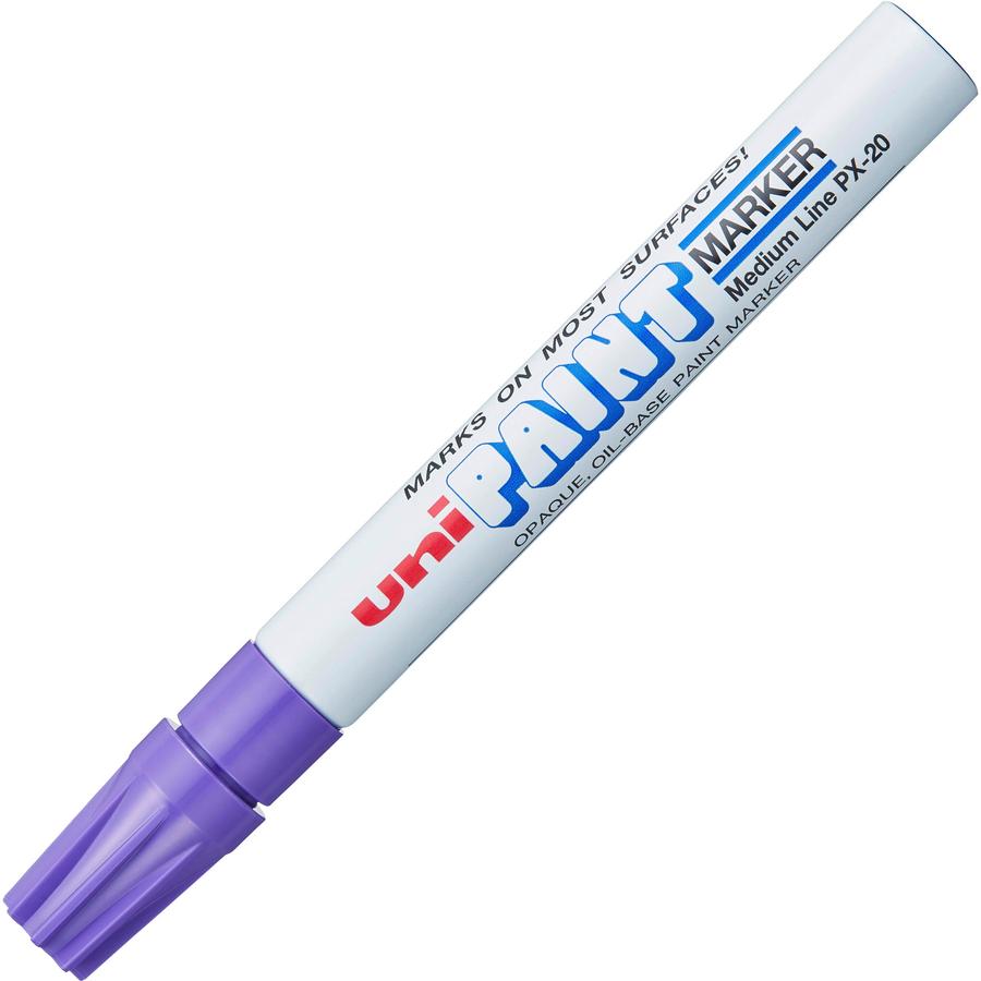 Uni ball uni paint oil base medium line markers san 63606 for White line marker paint