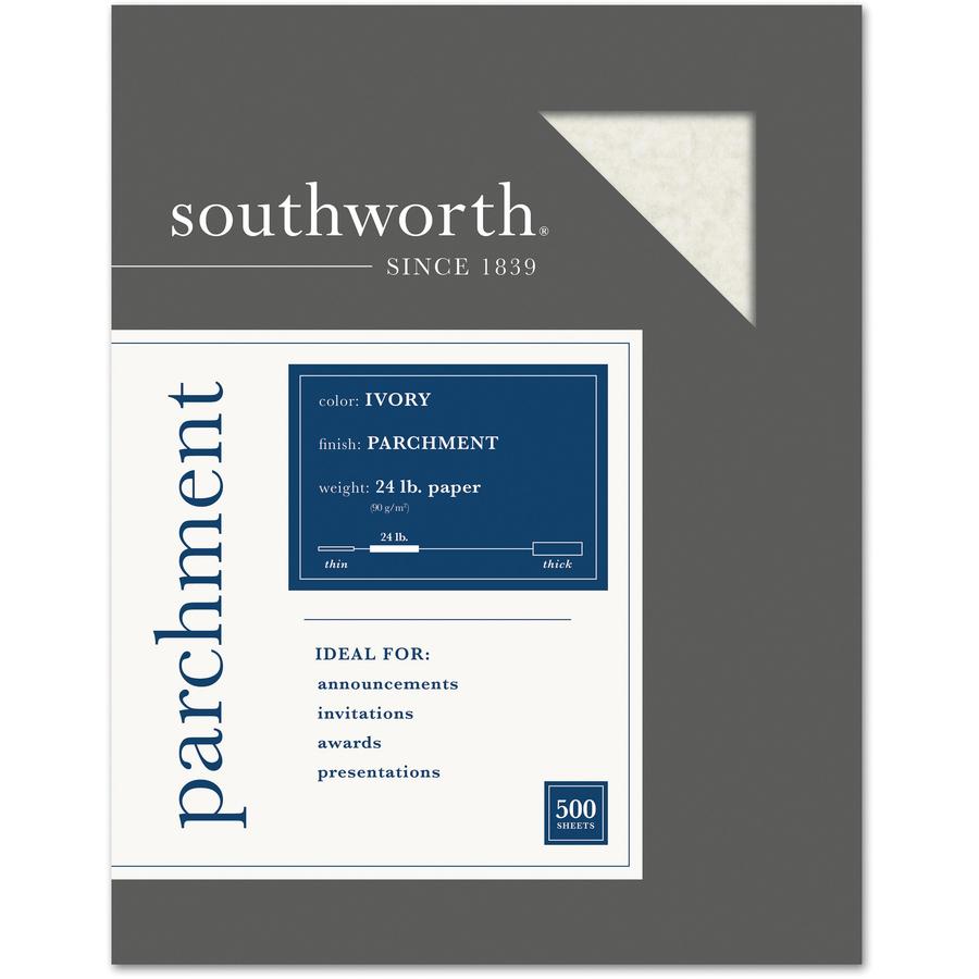 Southworth Parchment Paper Gold Letter Parchment 100 // Pack 8.50 x 11-24 lb