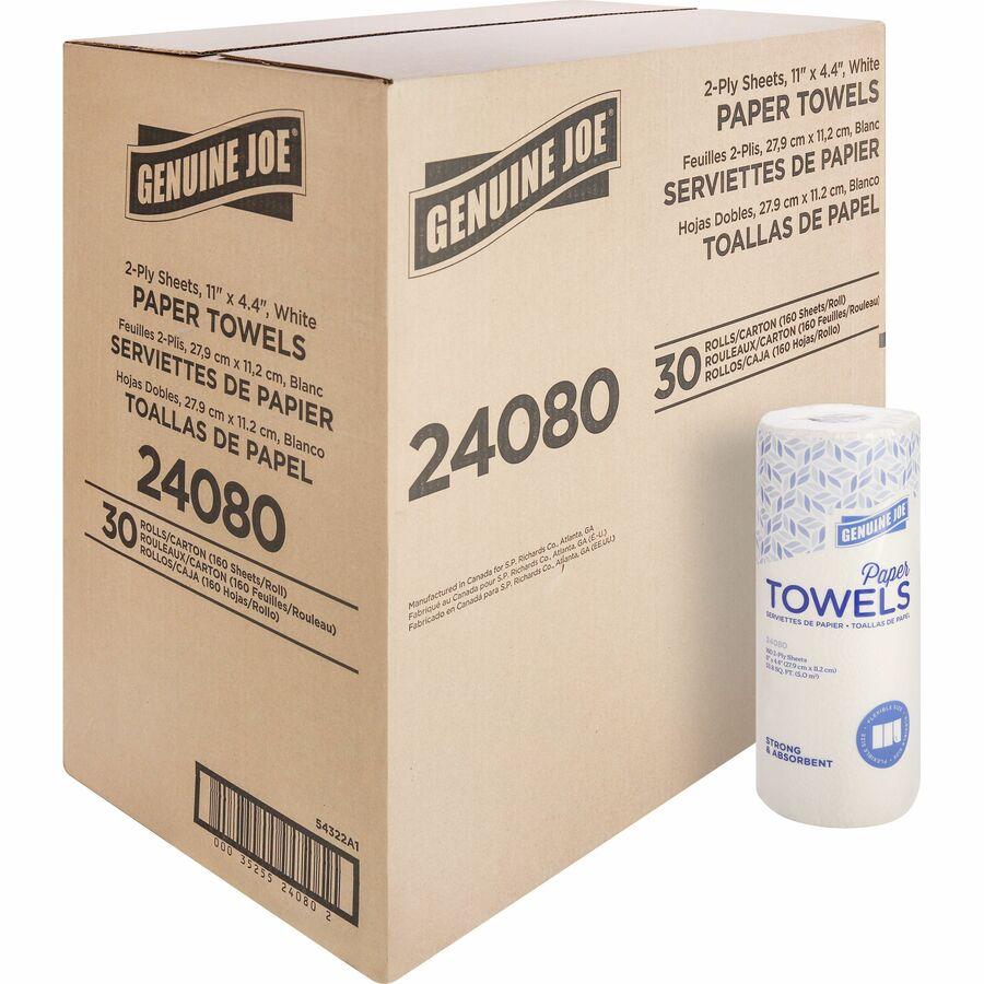 Genuine Joe 2 Ply Household Roll Paper Towels