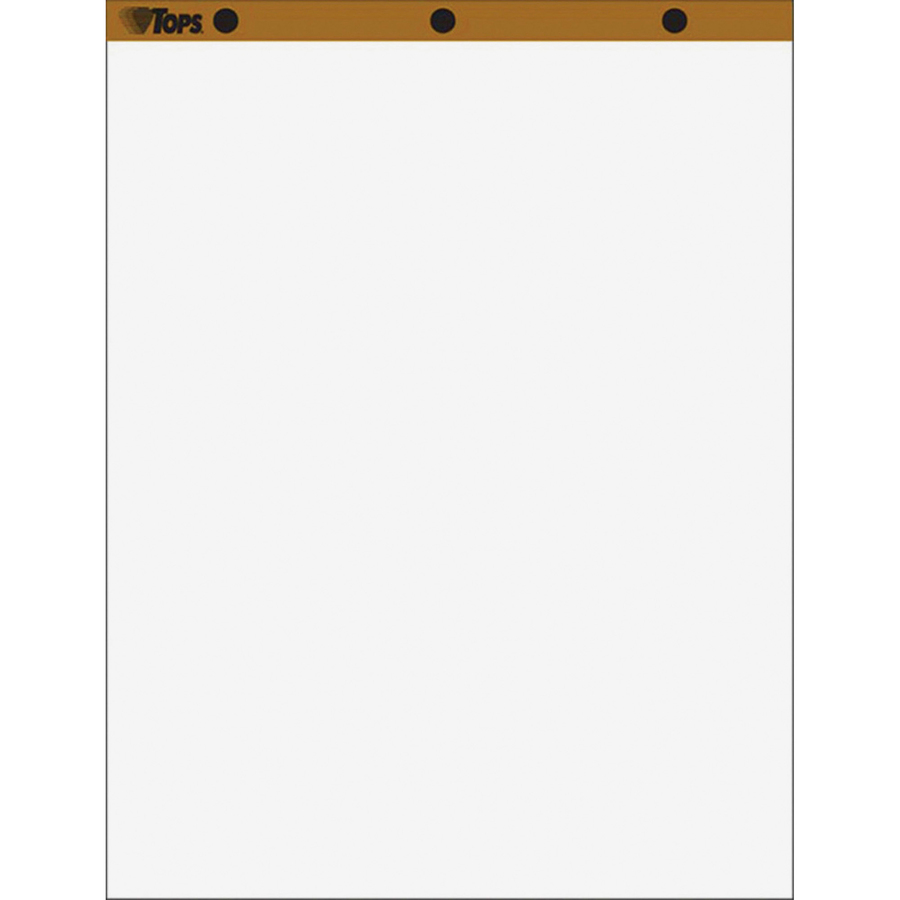 Sold as 1 Carton Recycled Easel Pads Unruled 27 x 34 50-Sheet 2//Carton Total 2 EA White