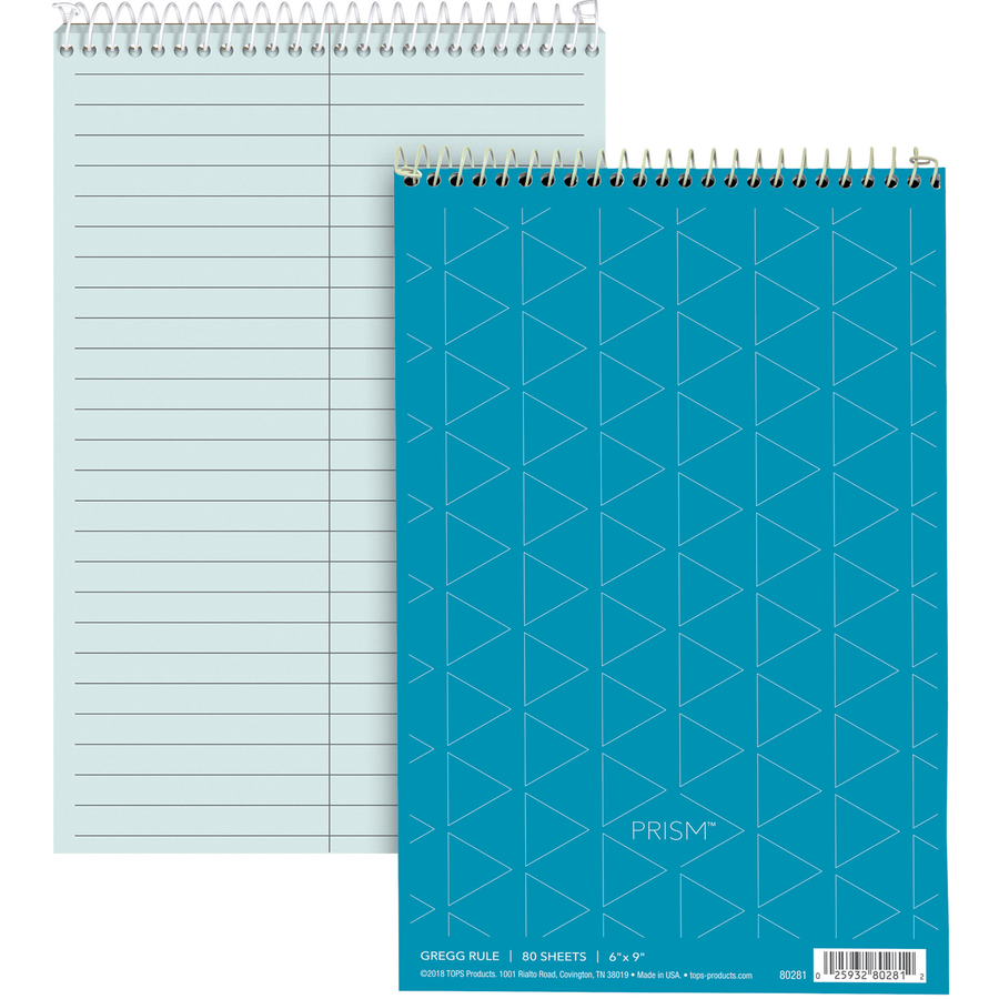 Business Source Steno Notebook - 70 Sheets - Wire Bound - Gregg
