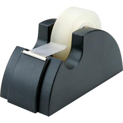 Plastic Tape Seat Tape Holder Office Tape Dispenser Desktop With Tape Cutter QK
