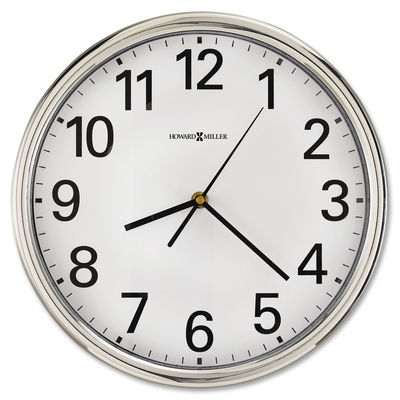 Mil625561 Howard Miller Hamilton Wall Clock 12 Overall Diameter Silver Case 1 Aa Sold Separately
