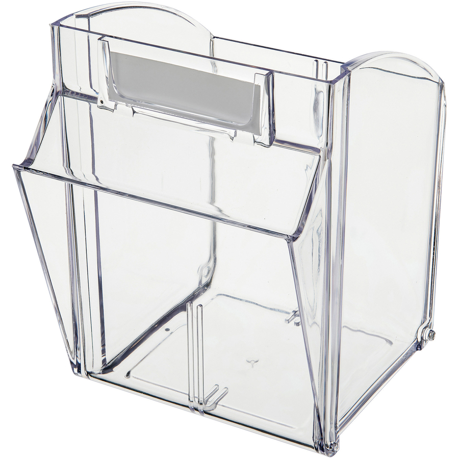Deflecto Tilt Bin Interlocking Multi Bin Storage Organizer