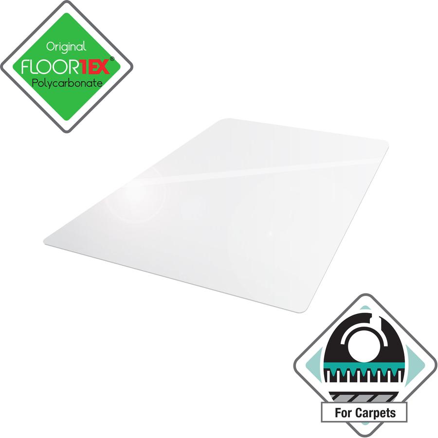 Cleartex ultimat lowith medium pile carpet chairmat - Deep pile carpet protector ...