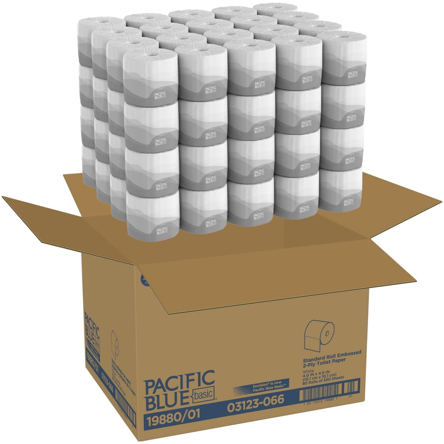 Georgia-Pacific Envision 2Ply Embossed Bath Tissue - 2 Ply - 4 05