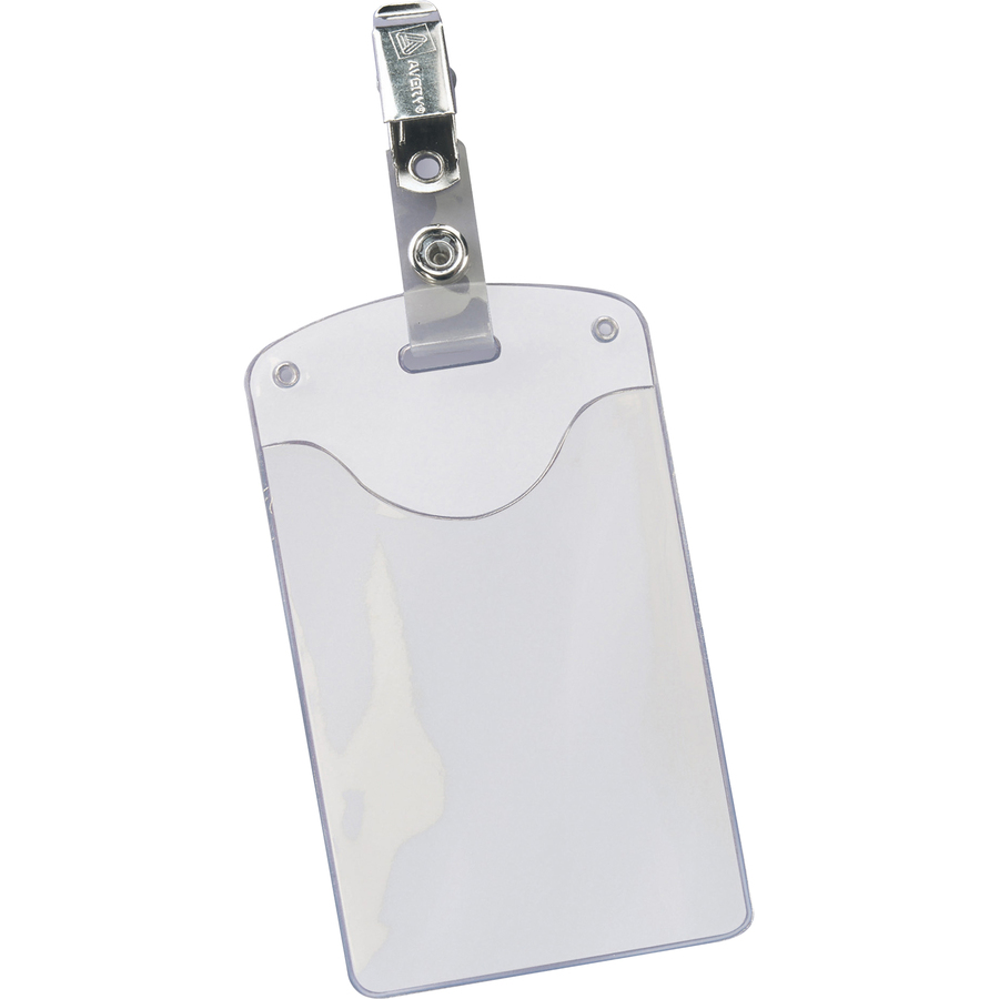 avery heavy duty secure top badge holders kopy kat office