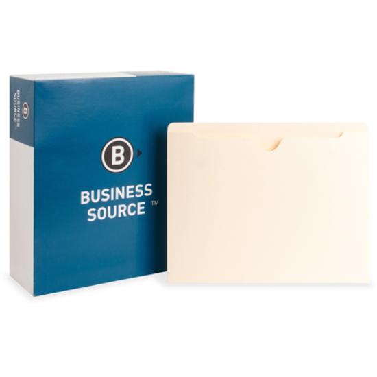 File Pocket,Straight Cut Tab,Flat,50 Cap.,Letter,100//BX,MLA BSN65796
