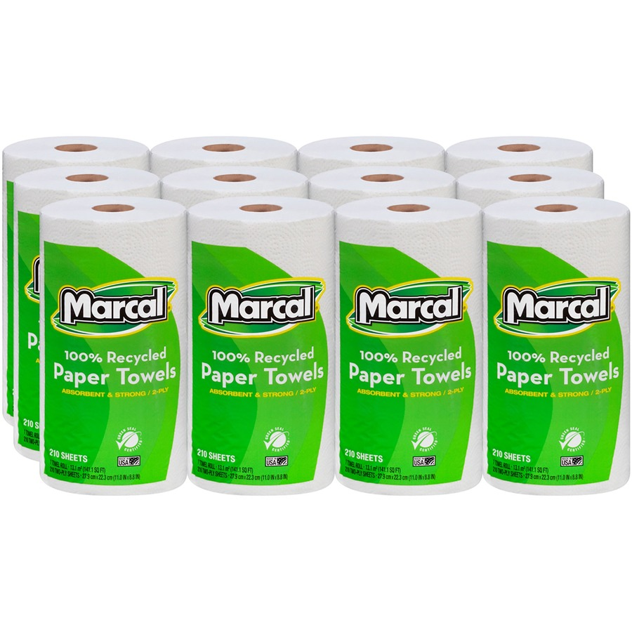 Scott Lint Free Paper Towels: Marcal 100% Recycled, Jumbo Roll Paper Towels