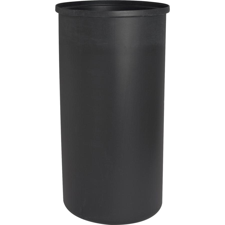 Genuine Joe Classic Cylinder 2-Piece Waste Receptacle