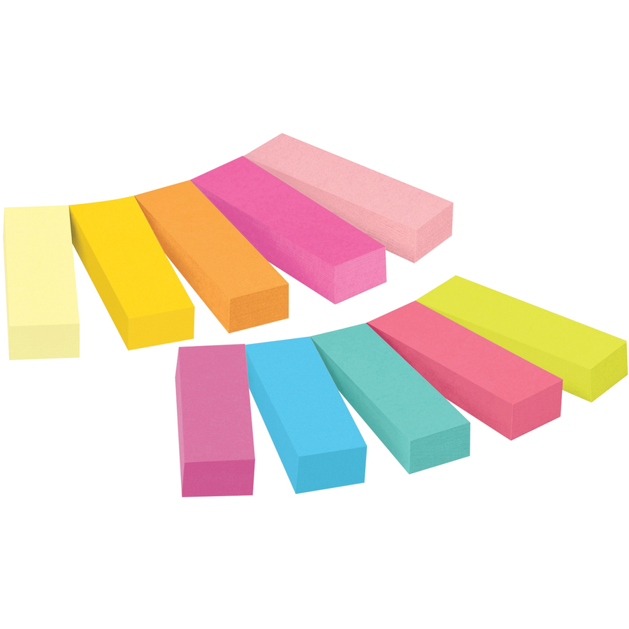 Post It Page Markers Assorted Bright Colors 1 2 In X 2 In