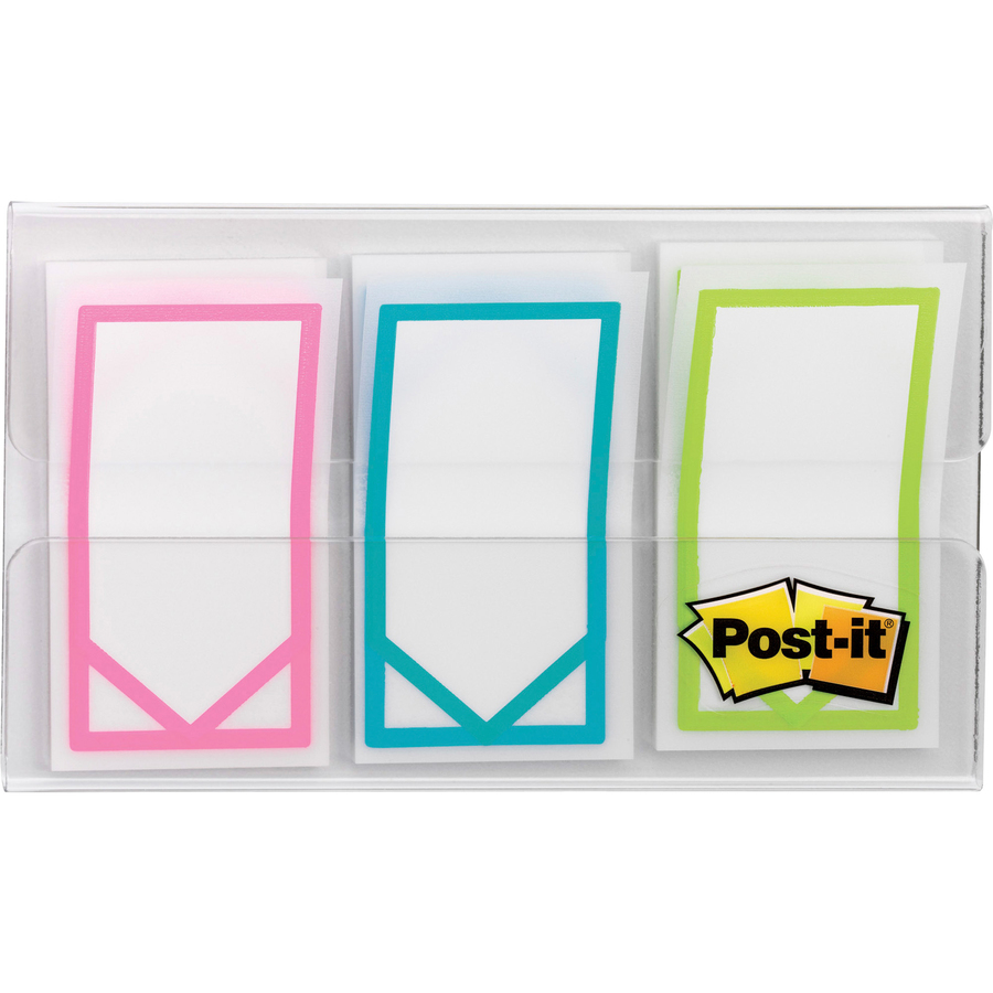 post it flags 1 arrow assorted bright colors urban office products. Black Bedroom Furniture Sets. Home Design Ideas