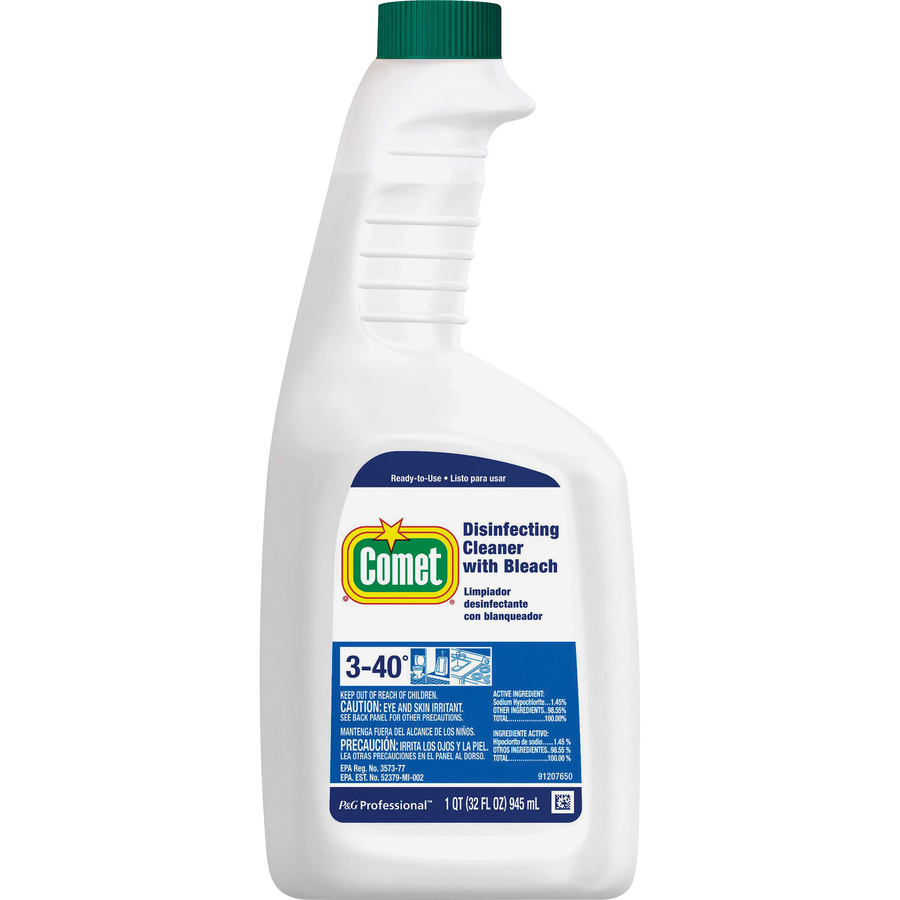 ddb935cb3120 Comet Disinfecting Cleaner with Bleach - Ready-To-Use Spray - 0.25 gal (32  fl oz) - 1 / Each - Clear