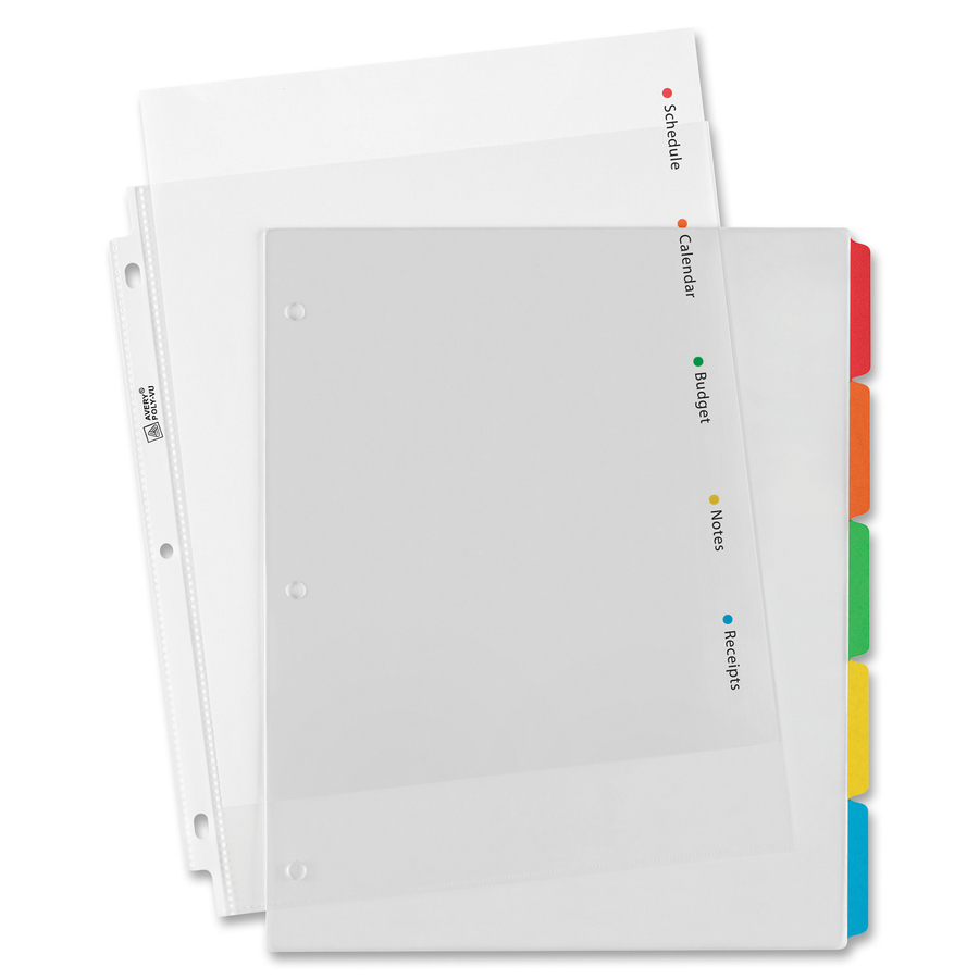 avery clear easy view dividers mac papers inc