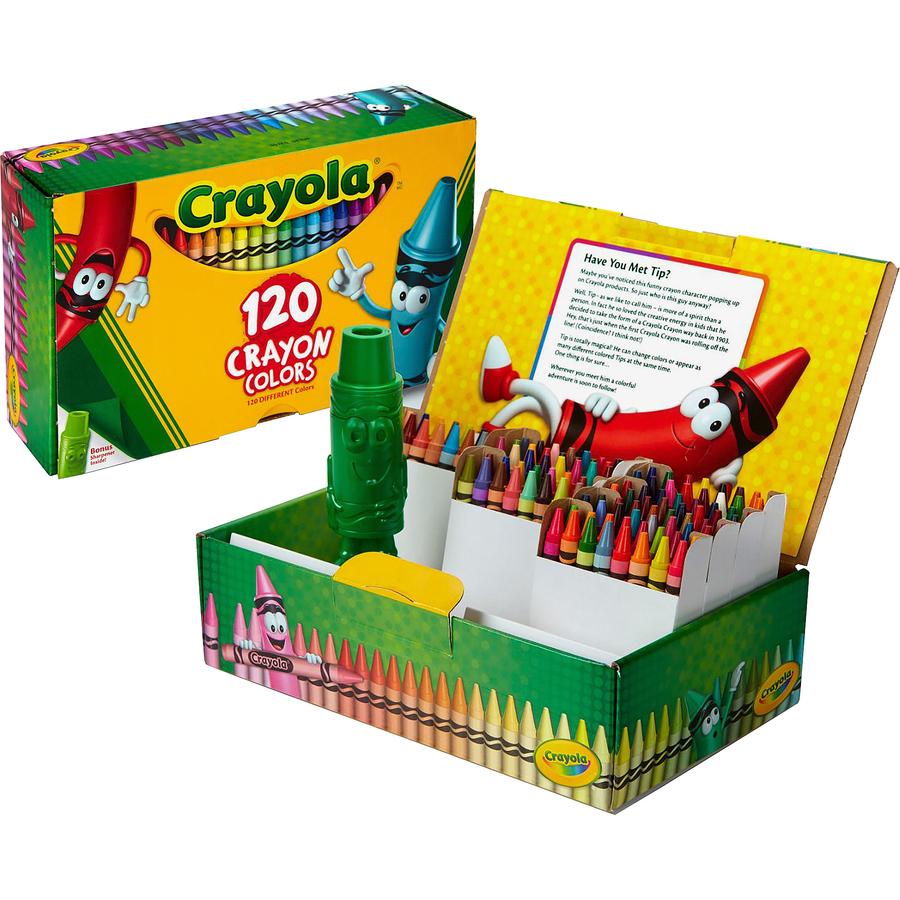Crayola 120 Crayons - Assorted - 120 / Box | Reidsville\'s Office City