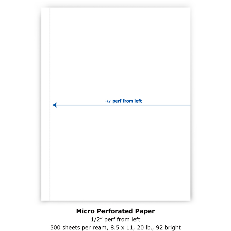 Invoices 8.5 x 11 20# PrintWorks Professional Perforated Paper for Statements