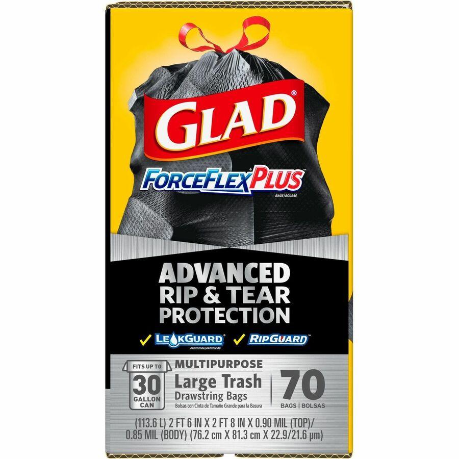 Glad ForceFlex Tall Kitchen Trash Bags - 30 gal - 1 05 mil (27