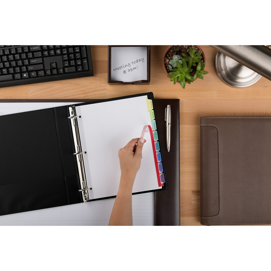 averyreg index maker print apply clear label dividers with contemporary color tabs 8 x dividers print on tabs 8 tabsset 85 divider