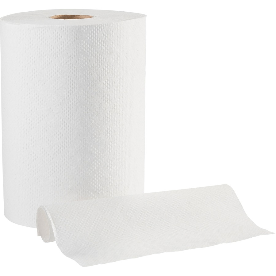Georgia Pacific Envision White Hardwound Roll Towels 1 Ply 7 87 X 350 Ft Absorbent Nonperforated For Office Building Washroom Food Service