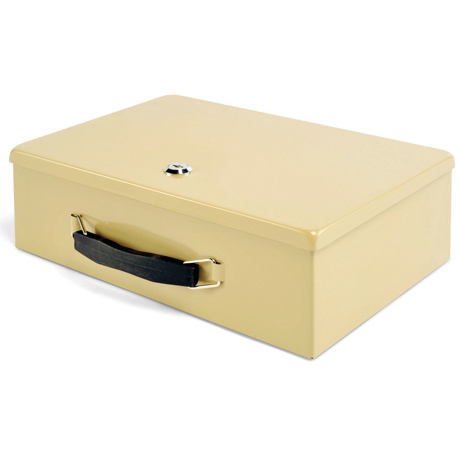 "Steel Sand Mmf Fire-retardant Cash Box With Lock 4/"" Height X 12.8/"" Width X"
