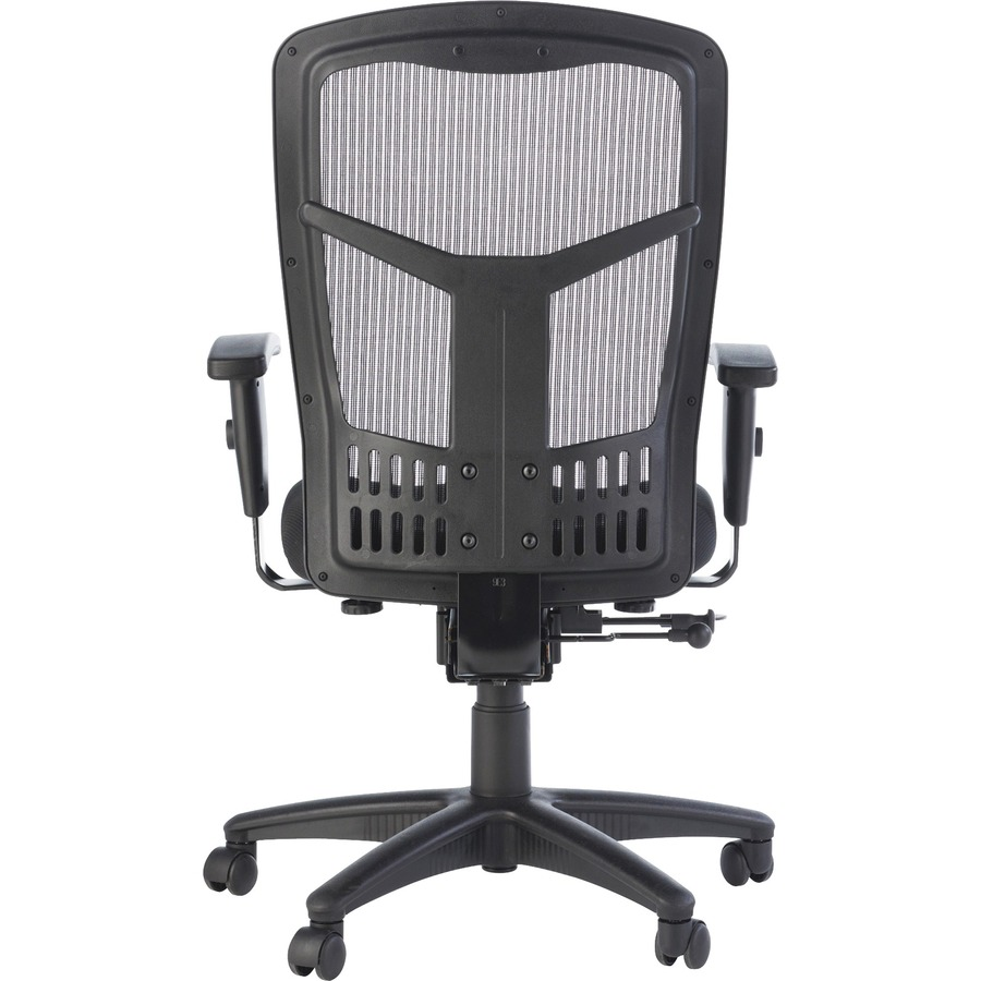 Lorell Executive High Back Swivel Chair LLR86205 · Original Zoom Closeup  Line Art Rear ...