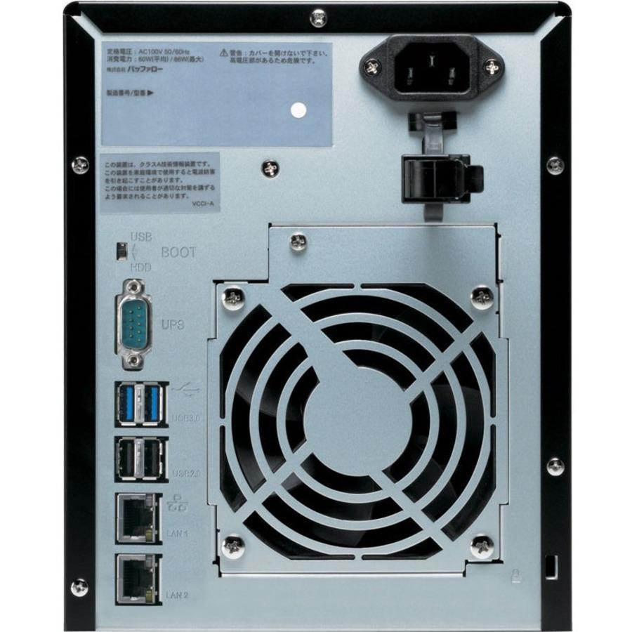 Buffalo TeraStation WS5400DRW2 4 x Total Bays NAS Server - 1 x Intel Atom D2550 Dual-core 2 Core 1.86 GHz - 8 TB HDD - 4 GB RAM DDR3 SDRAM - Serial ATA/300 - RAID