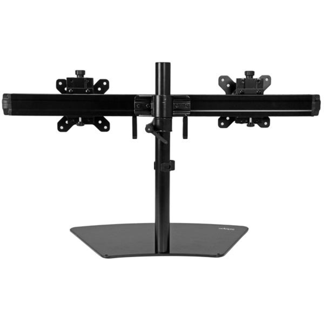 StarTech.com Dual Monitor Stand - Monitor Mount for Two Displays - Up to 61 cm 24inch Screen Support - 8.16 kg Load Capacity - Plastic, Steel - Black