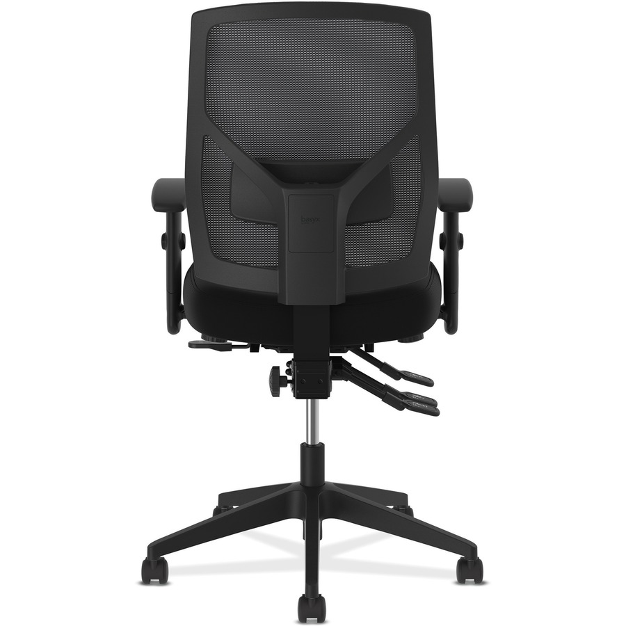 basyx by hon crio asynchronous mesh mid back task chair
