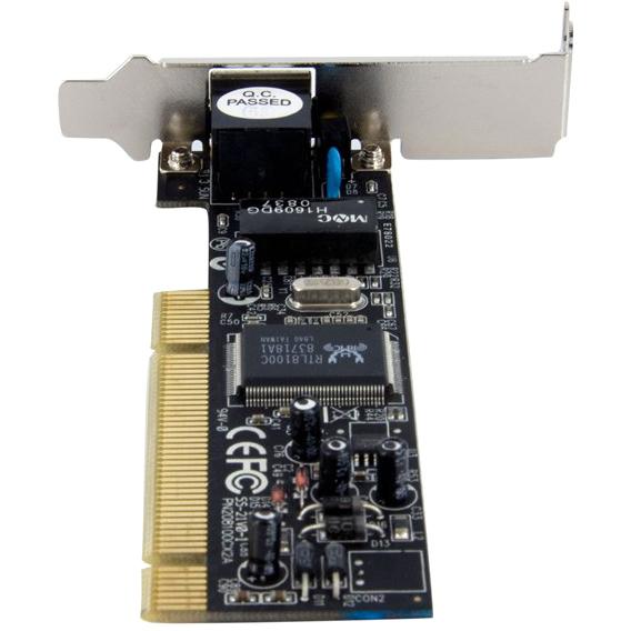 StarTech.com 1 Port Low Profile PCI 10/100 Mbps Ethernet Network Adapter Card - 1 Port - 10/100Base-TX - Internal - Low-profile