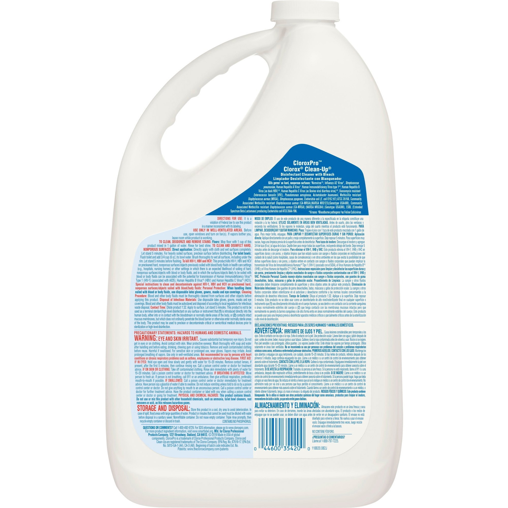 Clorox Clean-Up Disinfectant Cleaner with Bleach - Liquid - 1gal - Fresh Scent - 1 Each - Refill