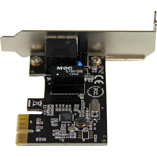 StarTech.com 1 Port PCI Express PCIe Gigabit NIC Server Adapter Network Card - Low Profile - PCI Express