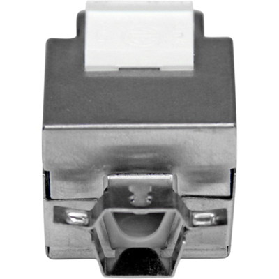 StarTech.com Shielded Cat 6a Keystone Jack - RJ45 Ethernet Cat6a Wall Jack White