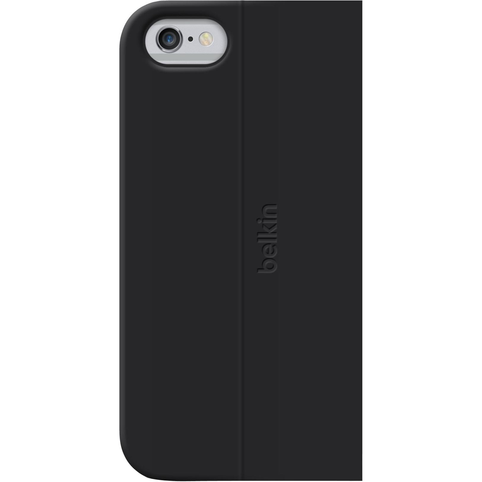Belkin Classic Folio Carrying Case Folio for iPhone - Blacktop - Scratch Resistant