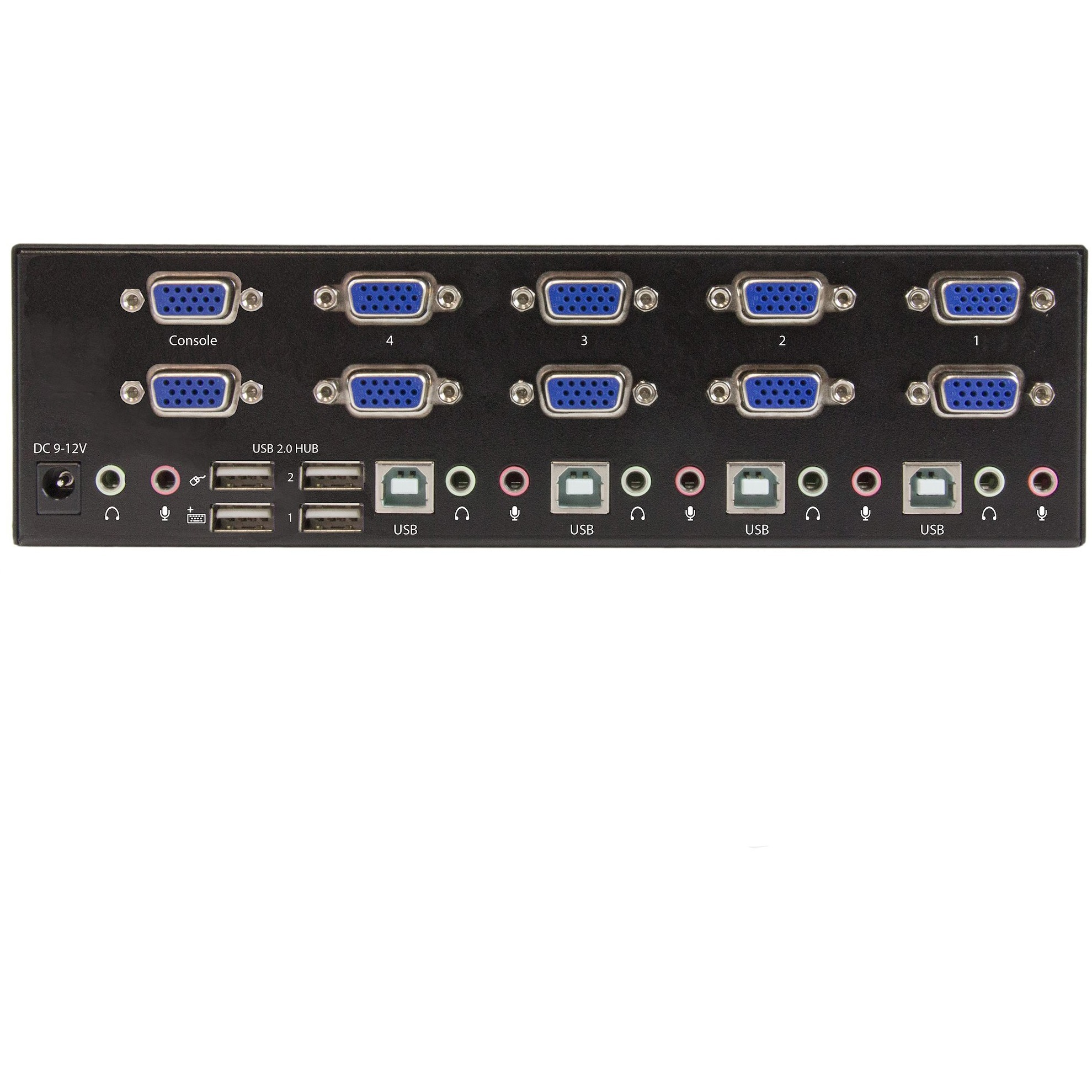 StarTech.com 4-port KVM Switch with Dual VGA and 2-port USB Hub - USB 2.0 - 4 Computers - 1 Local Users