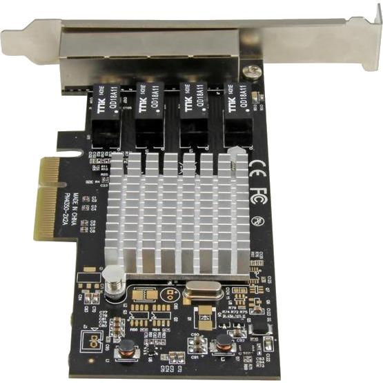 StarTech.com 4 Port PCI Express Gigabit Ethernet Network Card